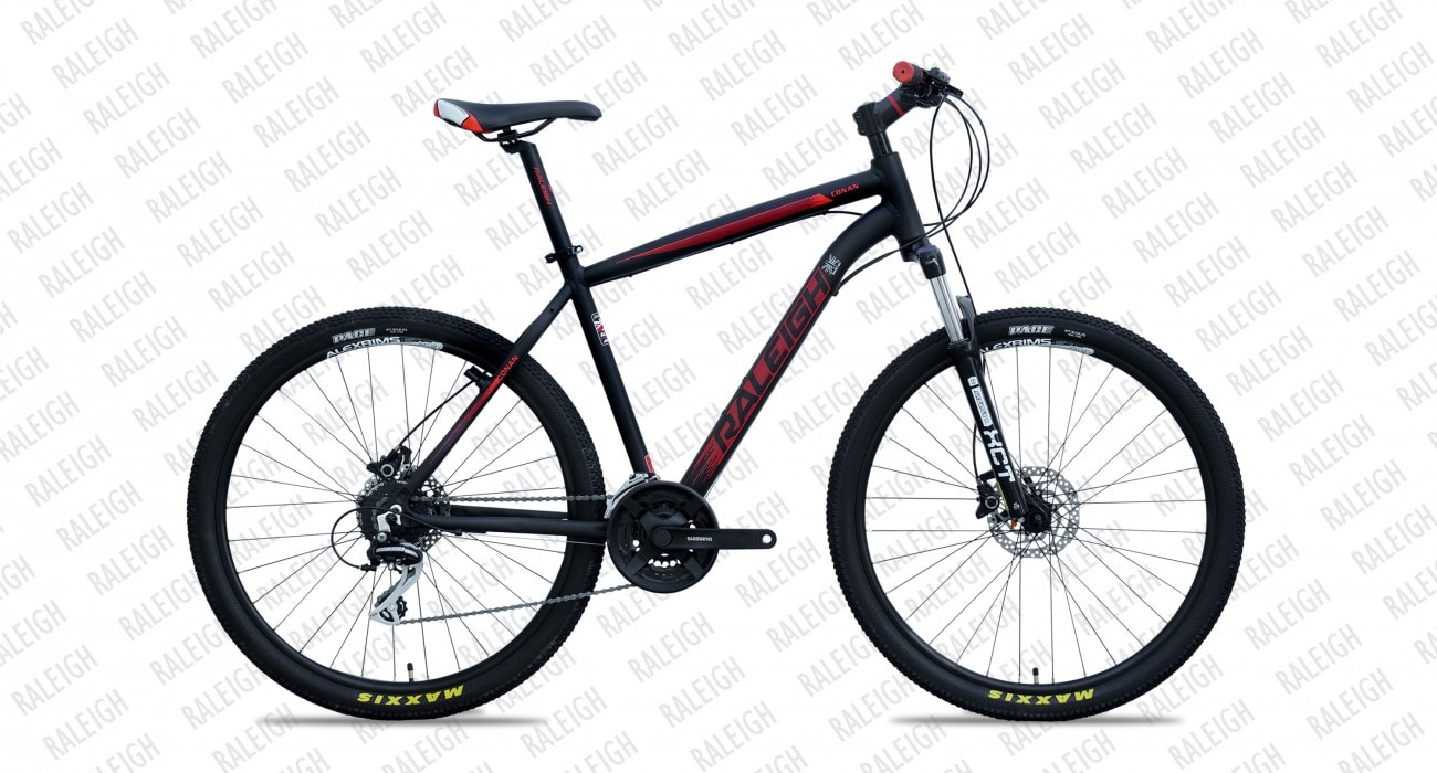 raleigh conan 29inch 2016 black with red