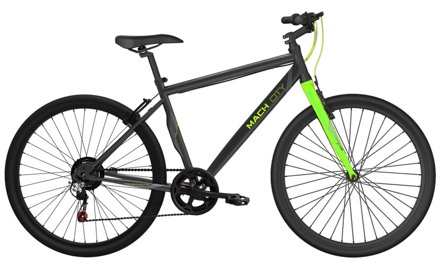mach city munich 21 speed 2016 black with green