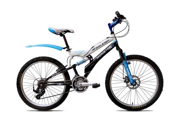 raleigh monster 24 2014 white with blue