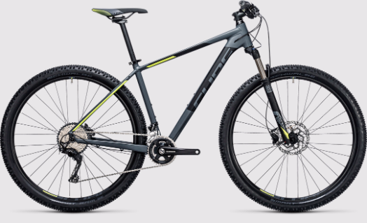 cube acid 2 x 29er 2017 grey with yellow