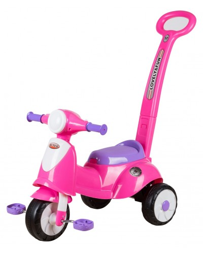 ez playmates italian scooter tricycle with navigator 2016 pink