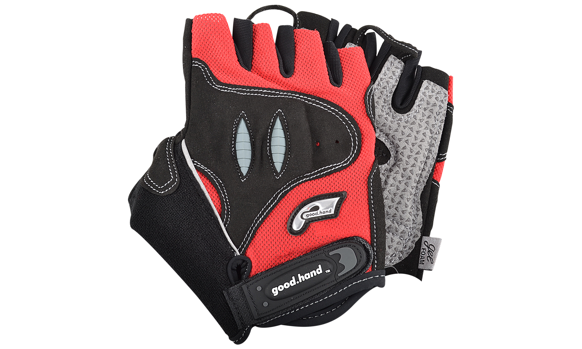 Good Hand Half Finger Gloves Red