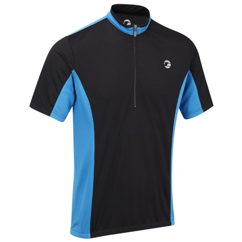 Tenn Mens Coolflo Cycling Jersey Black/Blue