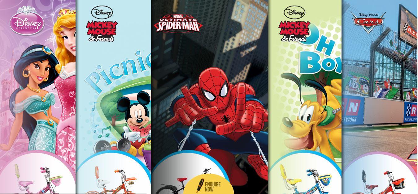 Hero cycles release Disney range of Kids' bicycles