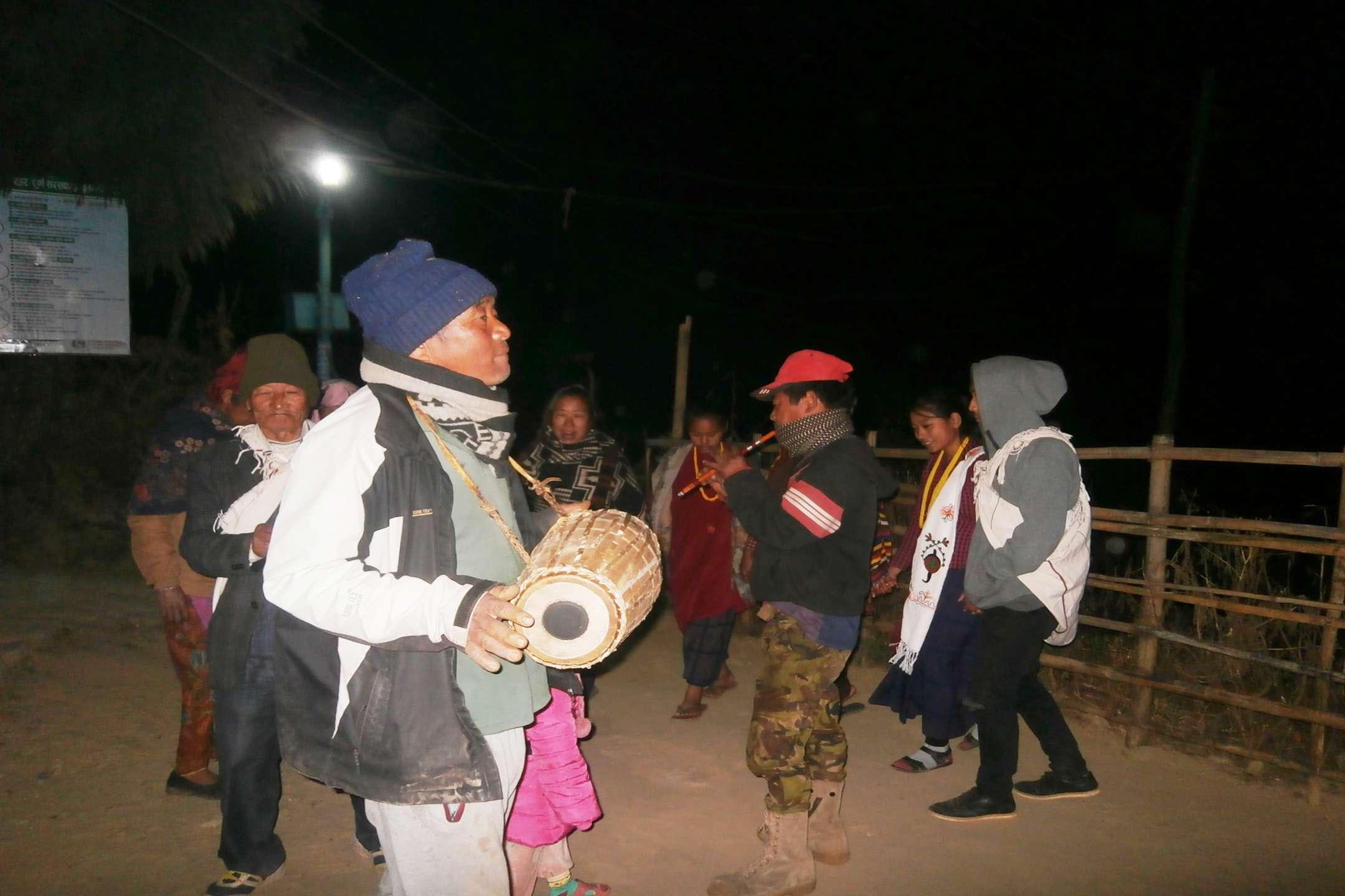 traditional magar ethnic dance in namje nepal