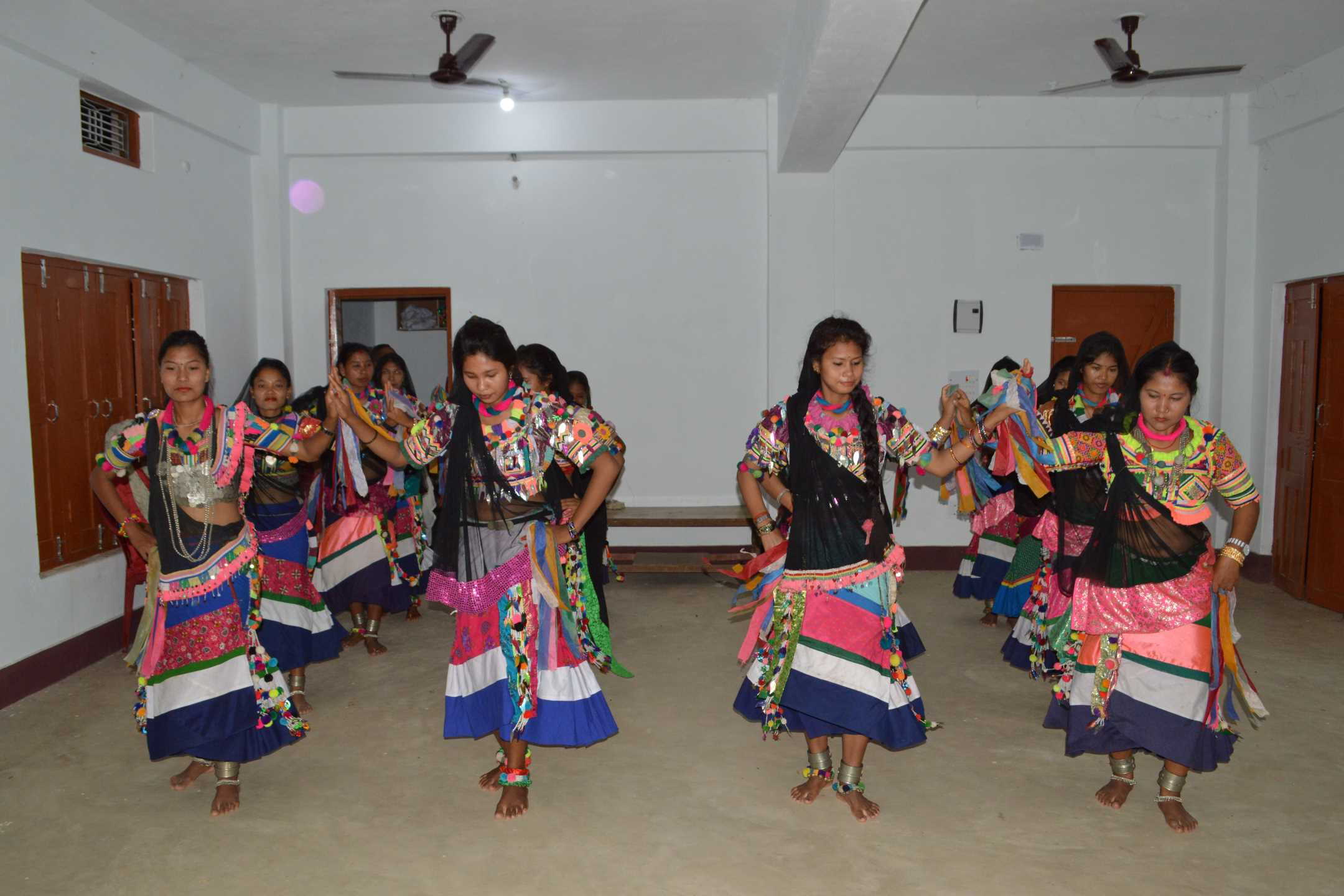 Colorful Ranu Tharu Dresses and Dance