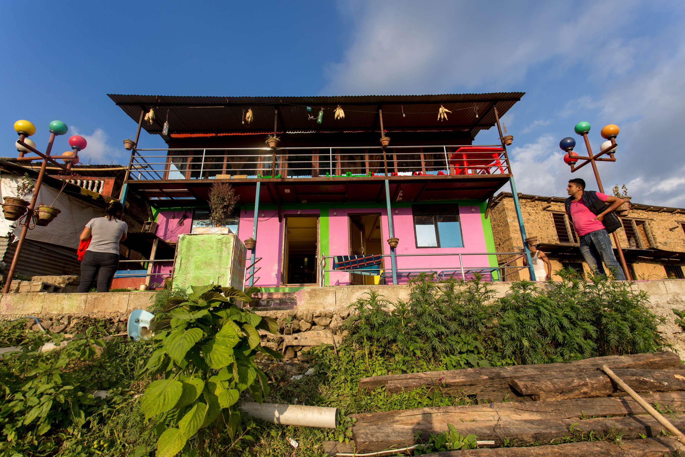 A colorful village house in Nagarkot Community homestay