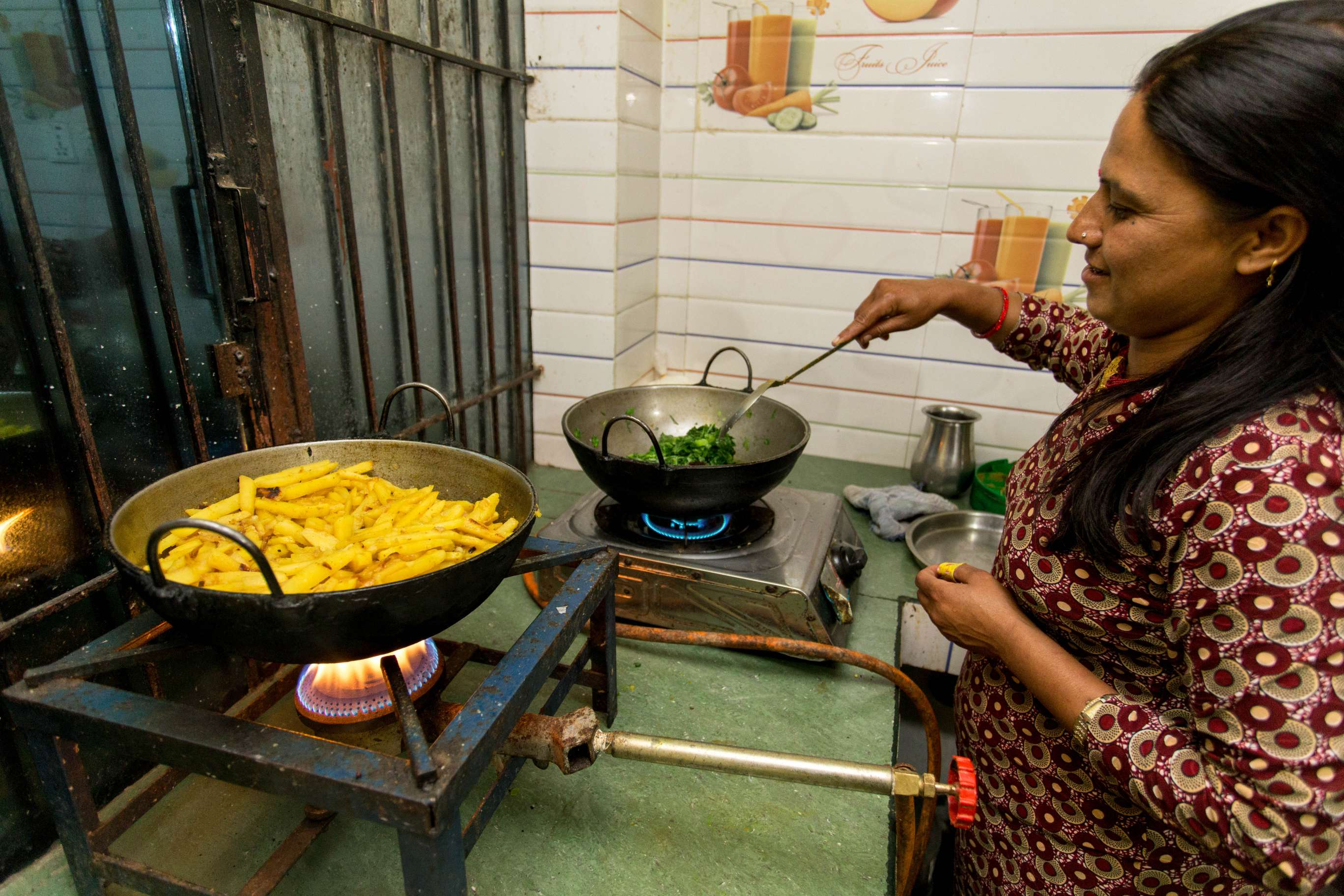 Host preparing Nepali Dinner for the family and Guest