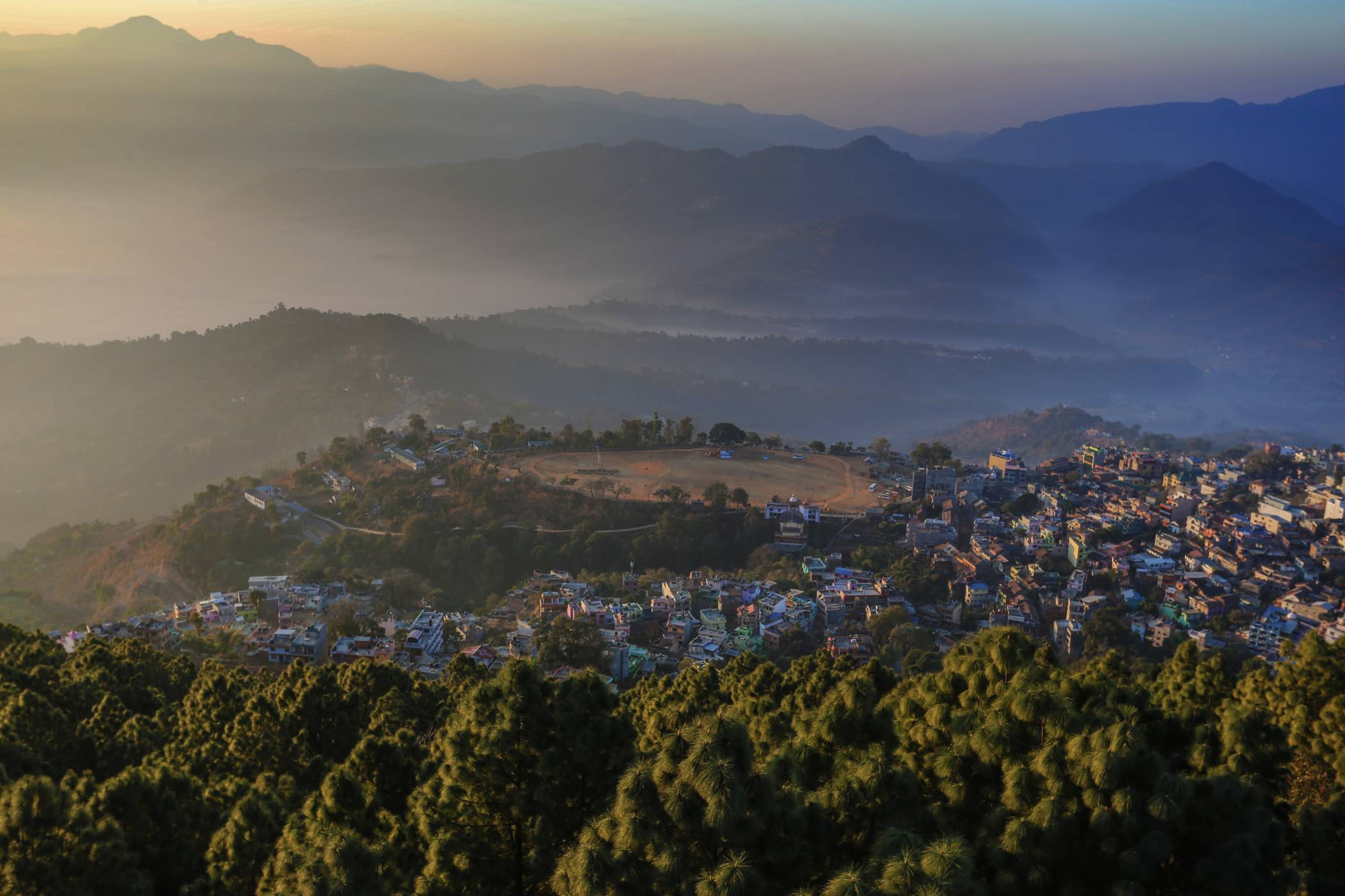 View of Tansen from nerby hills