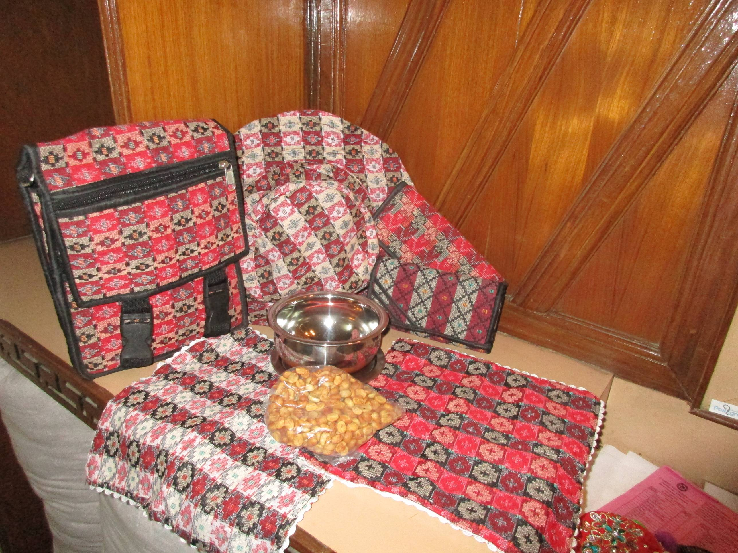 Dhaka products, Palpa is famous for production of Dhaka, a nepali fabric interwoven in colorful design