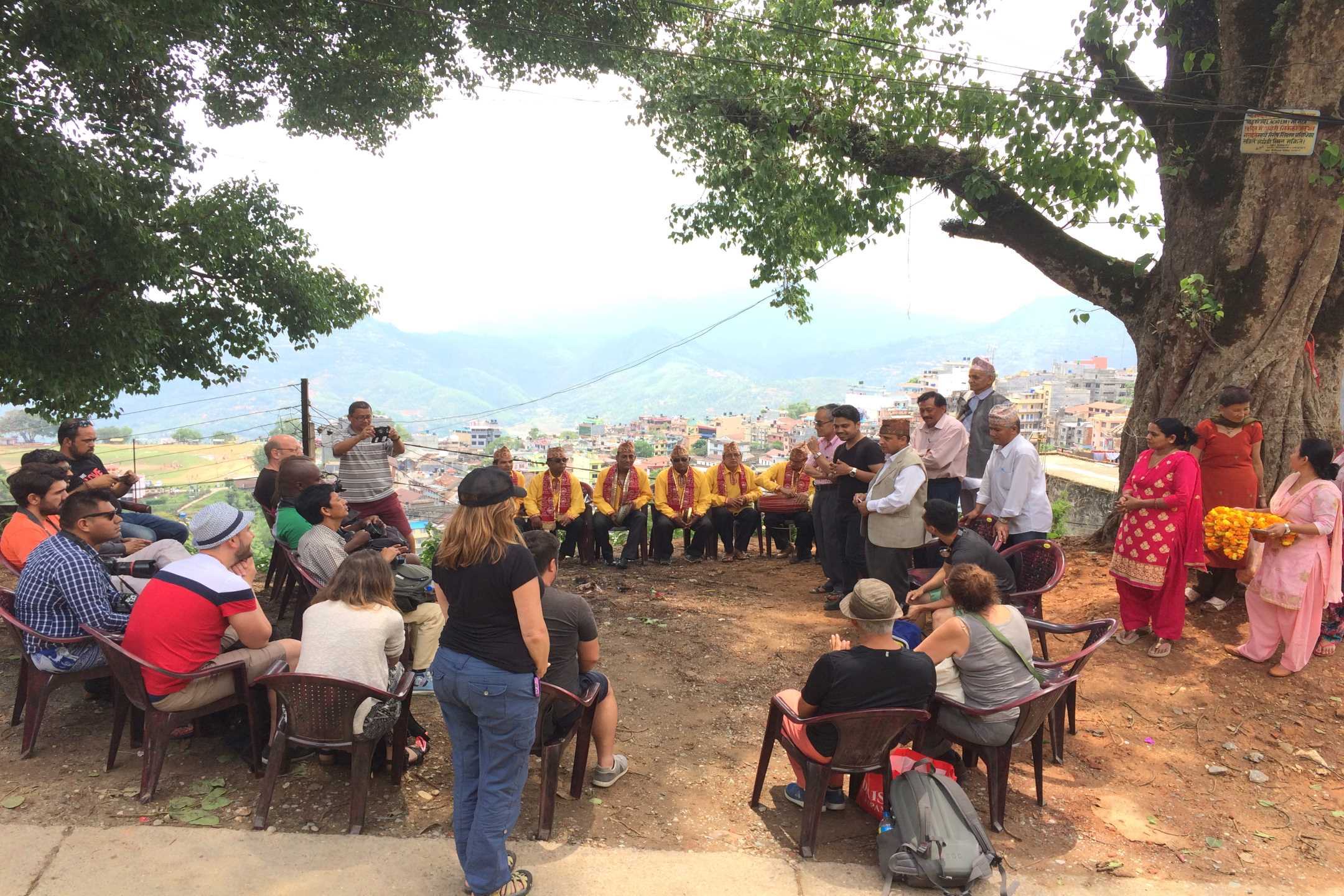 Welcoming the Guest at Palpa Community Homestay