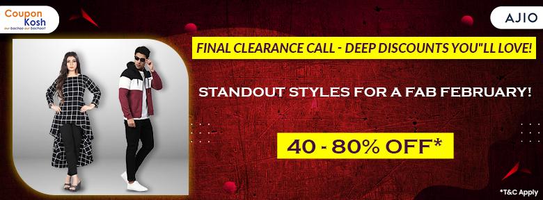 Fashion wear - 40% - 80% off