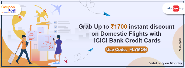 ICICI Bank Monday Domestic Flights Offer: Grab upto Rs 1700 instant discount on domestic flights