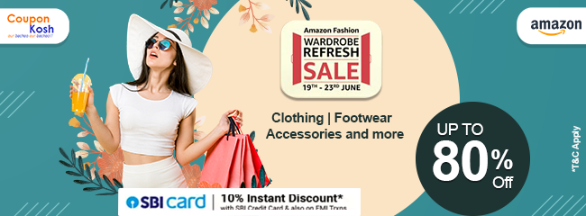 Wardrobe Refresh Sale: SBI Bank  Offer: Get 10% instant discount upto Rs 1750 on a minimum purchase of Rs 5000