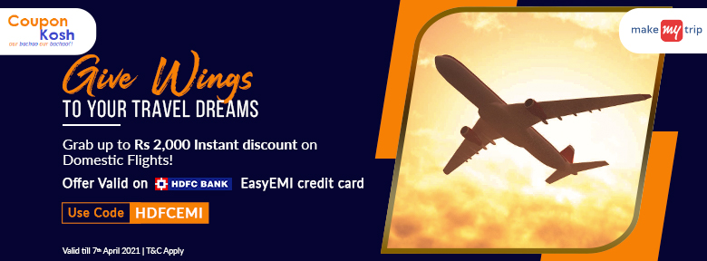 HDFC Bank Domestic Flight Offer: Grab upto Rs. 2,000 instant discount on domestic flights