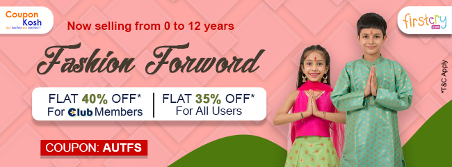 Flat 35% off on select fashion range
