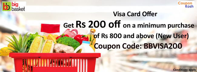 Visa Card Offer: Get Rs 200 off on a minimum purchase of Rs. 800 and above(
