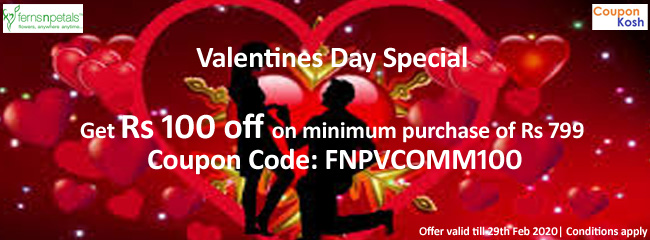 Get Rs.100 off on minimum purchase of Rs.799