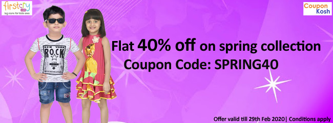 Flat 40% off on spring collection
