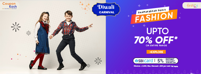 Diwali Carnival: Kid's fashion wear - Upto 70% off