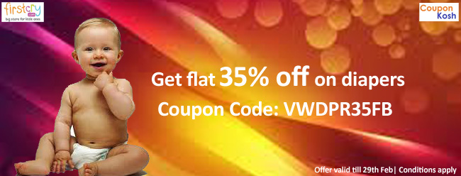 Flat 35% off on diapers