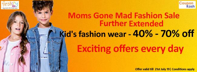 Moms Gone Mad Fashion Sale: Kid's fashion wear - 40% - 70% off