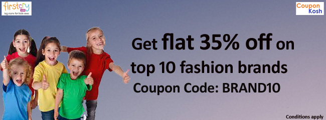 Get flat 35% off on top 10 fashion brands