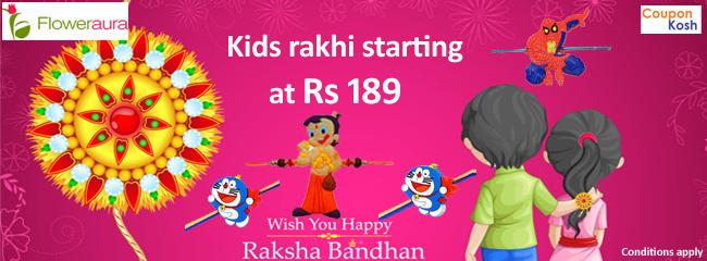Kid's rakhi starting at Rs.189