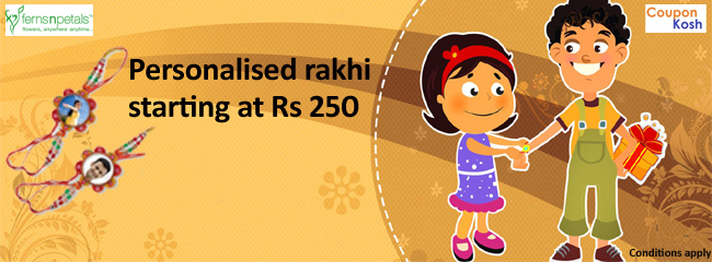 Personalised rakhi starting at Rs 250