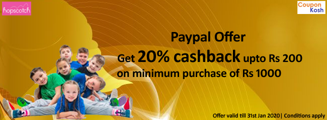 Paypal Offer: Get 20% cashback upto of Rs 200 on minimum purchase of Rs.1000