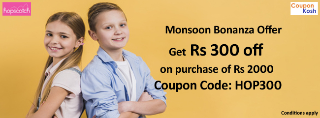 Monsoon Bonanza Offer: Get Rs 300 off on purchase of Rs 2000