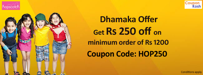 Dhamaka Offer: Get Rs.250 off on minimum purchase of Rs.1200