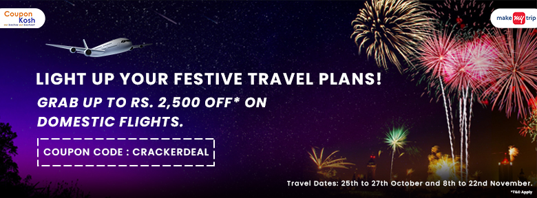 Grab upto Rs.2,500 off on domestic flights