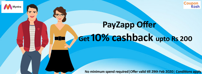 PayZapp  Offer: Get 10% cashback upto Rs 200  (no minimum spend required)