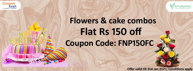 Flowers & cake combos - Flat 150 off