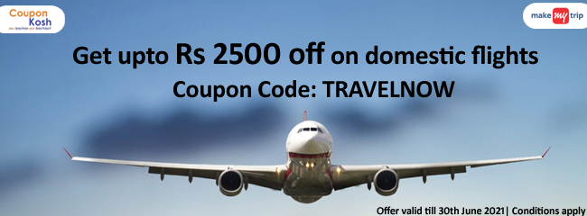 Get upto Rs. 2500 off on domestic flights