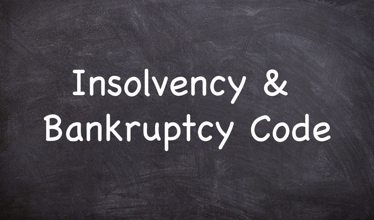 Stressed Assets Management and Insolvency & Bankruptcy Code