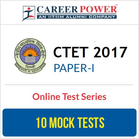 CTET Exam 2017 Paper I Online Test Series