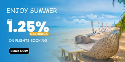 Book Flight Tickets And Get Upto 1.25% Cashback