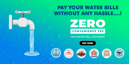 Pay Water Bills At 0% Surcharge