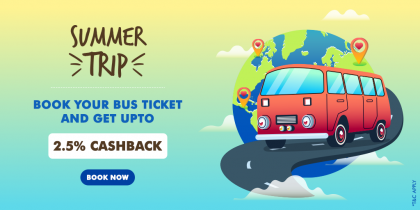 Book Bus Ticket And Get Upto 2.25% Cashback