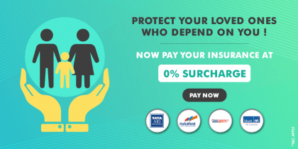 Pay Insurance Bills At 0% Surcharge