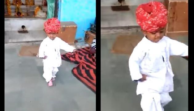 क्या देखा है कभी इतने cute बच्चे का राजस्थानी डांस, हो गया है वायरल!