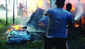 असम : रंगिया में भीषण अग्निकांड, लाखों रूपये की संपत्ति राख
