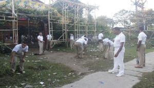 एसएसबी 19वीं बटालियन द्वारा स्वच्छ अभियान का आयोजन