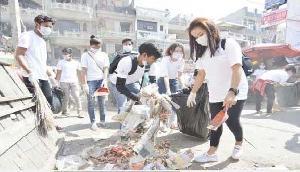 पूर्वोत्तर के स्टूडेंट्स ने दिल्ली में चलाया स्वच्छता अभियान