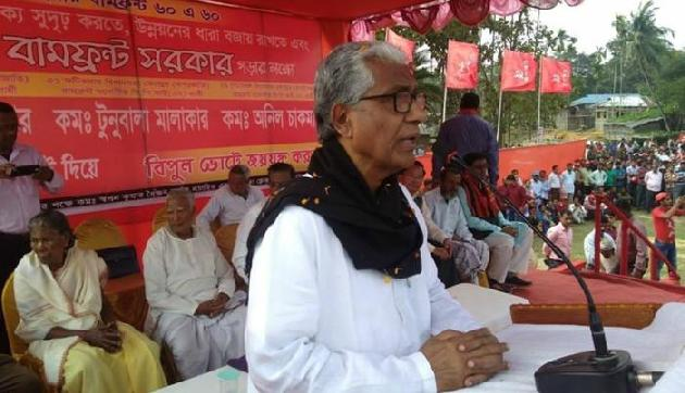 माणिक का आरोप, त्रिपुरा को बर्बाद करने की साजिश रच रही है BJP