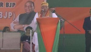 मेघालय में राजनाथ ने कहा, '10-12 राज्यों का नहीं बल्कि पूरे भारत का विकास चाहती है सरकार'