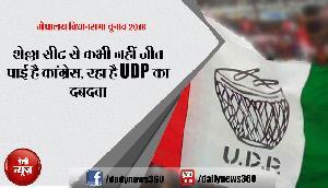 शेल्ला सीट से कभी नहीं जीत पाई है कांग्रेस, रहा है UDP का दबदवा