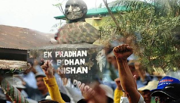 कोकराझार में श्यामा प्रसाद मुखर्जी की मूर्ति तोड़ी गई